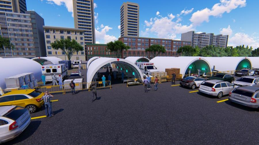 The versatility of these structures makes them ideal for temporary medical facilities, drive through COVID-19 testing, temporary emergency housing and much more.