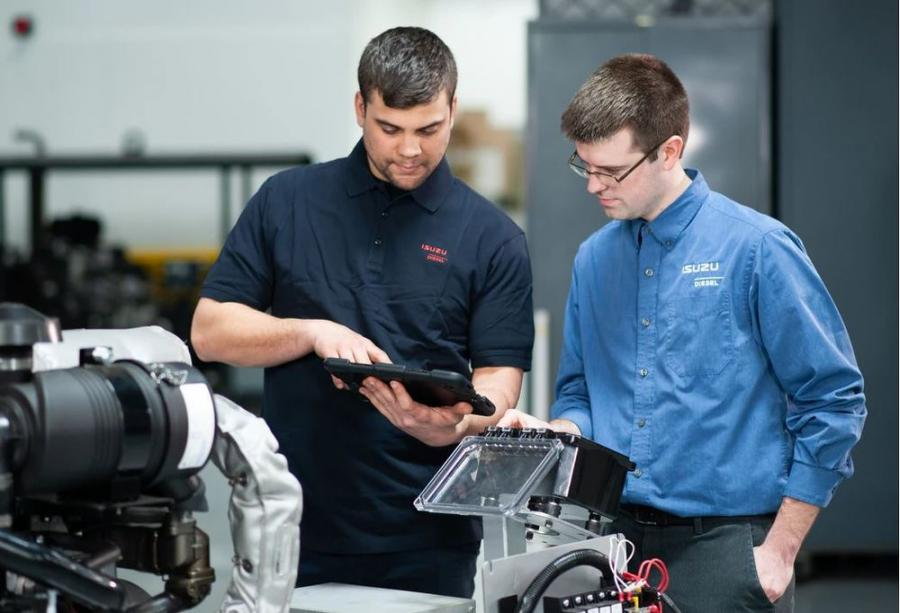 Technical activity occurring at the Isuzu Wixom Prototype Center. (Isuzu Motors America LLC photo)
