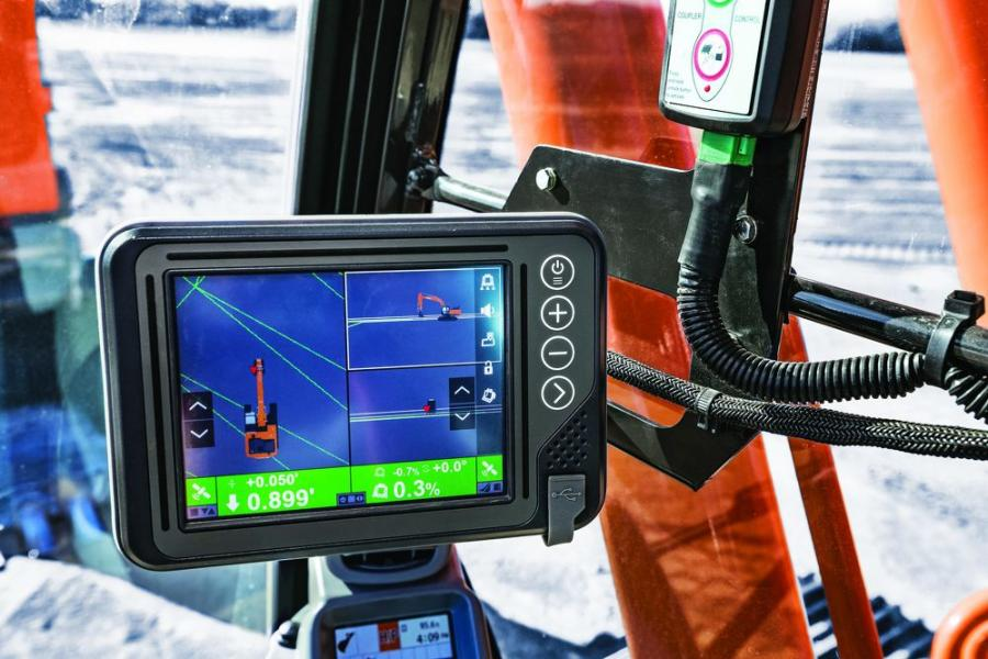 Hitachi Solution Linkage Integrated Grade Control with Topcon.