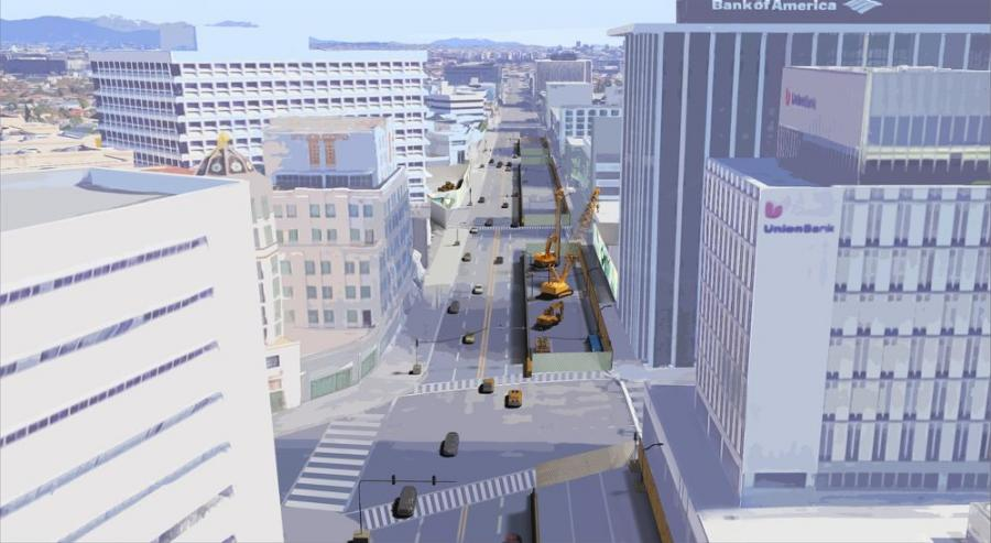 A rendering of what the new Wilshire/Rodeo station will look like after construction is complete.