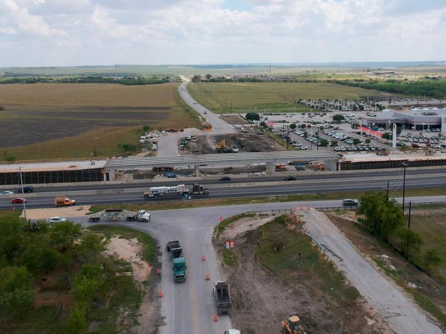 This project, taking place within the city of San Marcos in central Texas, consists of replacing the existing underpass interchange configuration with a new I-35 overpass at Posey Road. (My I-35 photo)