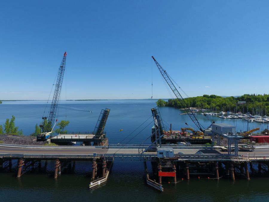 The historic bridge, which is the state's only vehicular movable bridge, was originally built in 1953 to carry US 2 over Lake Champlain between the towns of North Hero and Grand Isle.