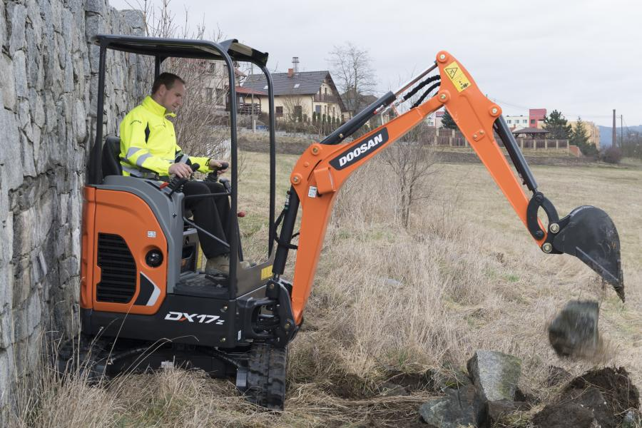 Doosan is developing the new electric mini excavator product because of requests from customers who work in certain applications where exhaust gases are prohibitive.