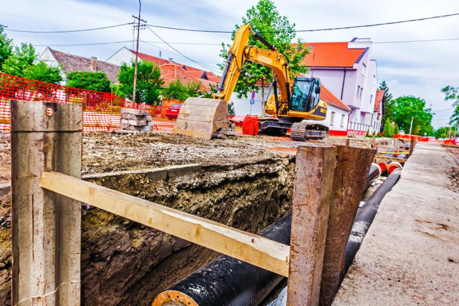 Inspect [at the start of each and end of shift], and any occurrence of an event that may have compromised trench condition. Also, keep excavated soil, materials and equipment at least 2 ft. from trench edges.