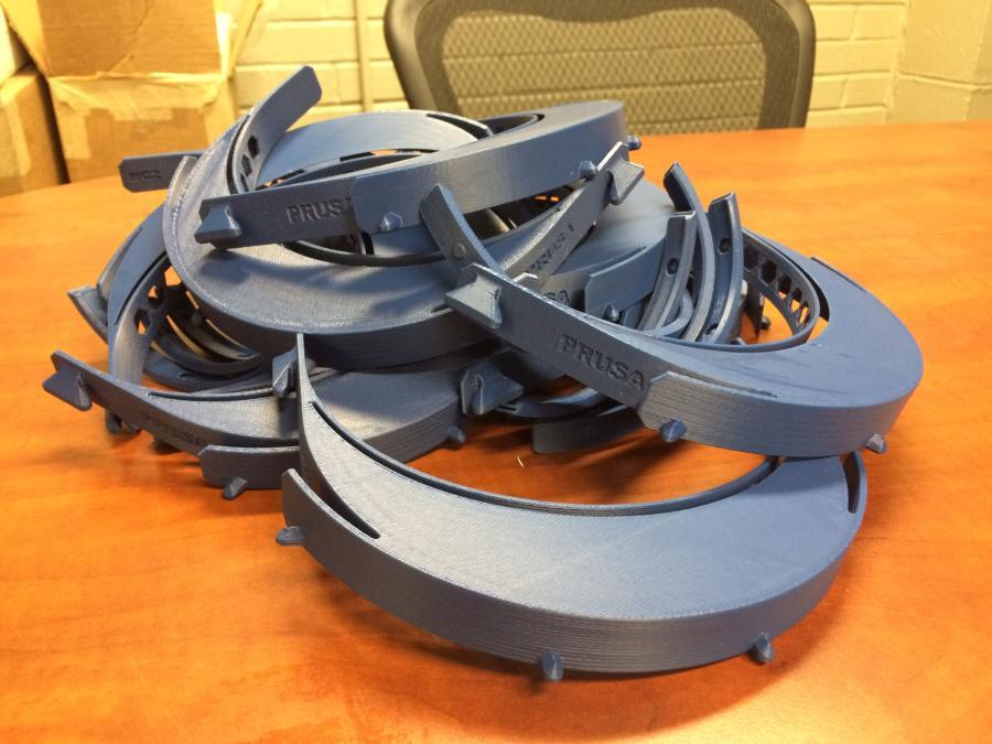 3-D printed visors