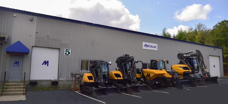 Opened July 2019, the new facility centralizes Mecalac's administrative offices, equipment inventory, parts and service support in one building, replacing the three separate locations the company maintained previously.