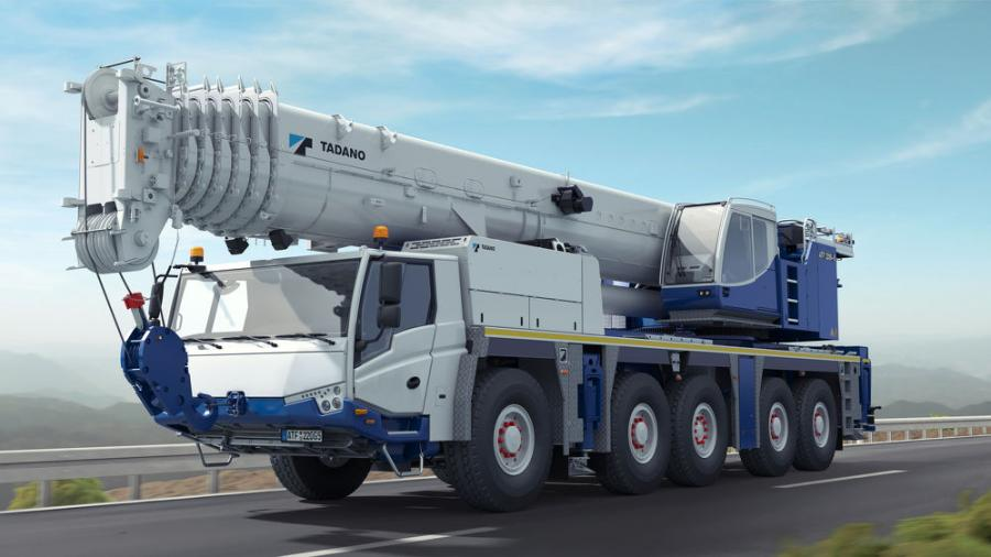 Fully equipped, the ATF 220G-5 boasts lifting capacities of up to 267 tons (242.5 t).