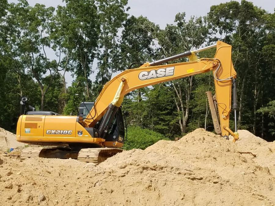 A Case excavator is delivered to a customer in Long Island, N.Y. Hoffman, from its three New York locations, has been the Case dealer in the state since 2004.