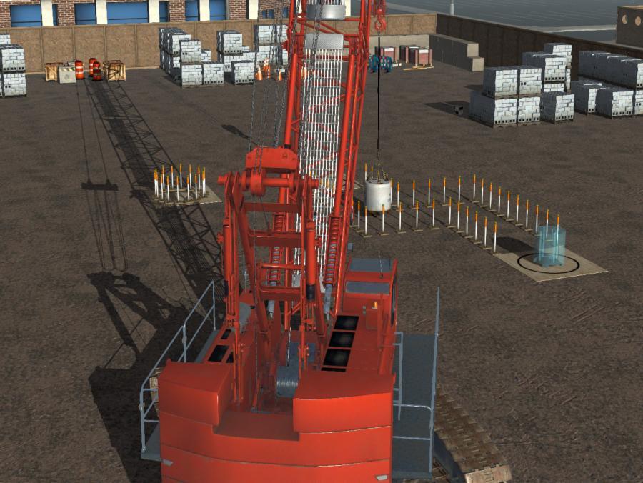 Crawler crane simulation