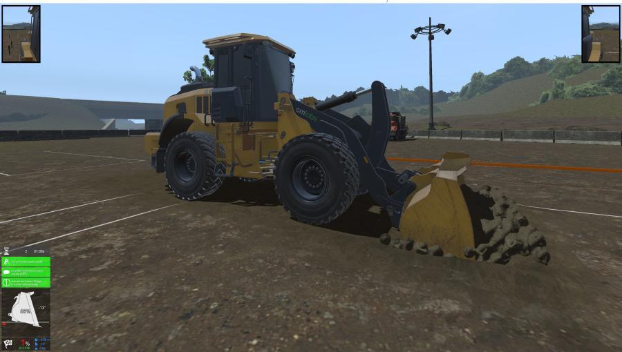 Excavator simulation