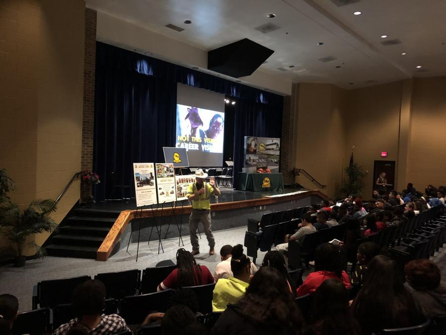 Jeremy Whitaker taught construction trades education for seven years before he was hired by C.W. Matthews Contracting Co. Inc. to promote the construction industry in local elementary and high schools. (Jeremy Whitaker/C.W. Matthews photo)