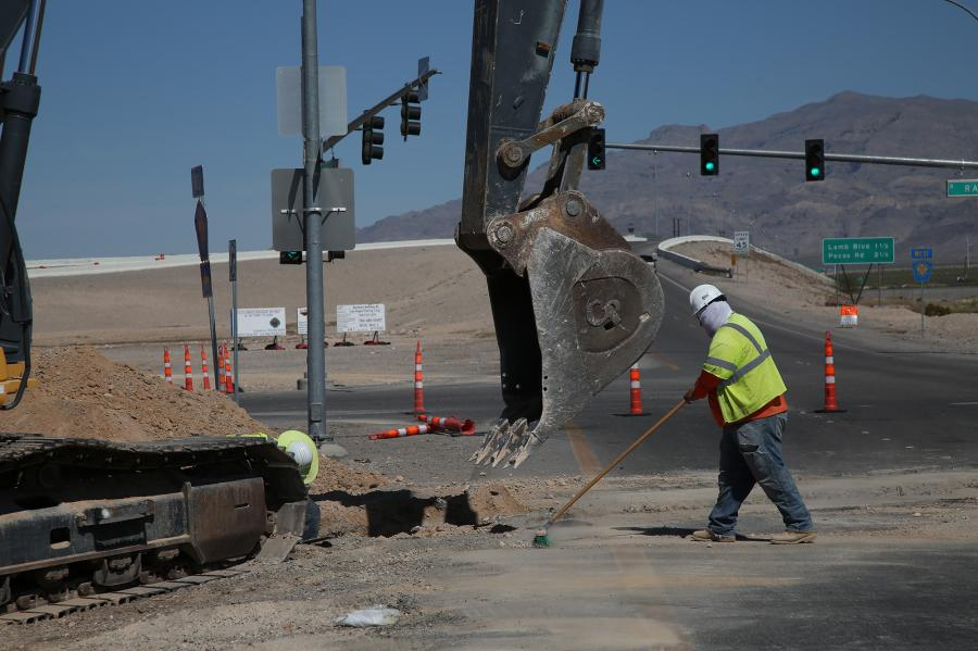 A contract was awarded to Fisher Sand & Gravel in January to build ramps, flyovers and street connections at Interstate 15 and the 215 Beltway in north Las Vegas.