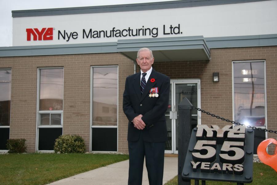 Jack Nye at the shop November 2008.
