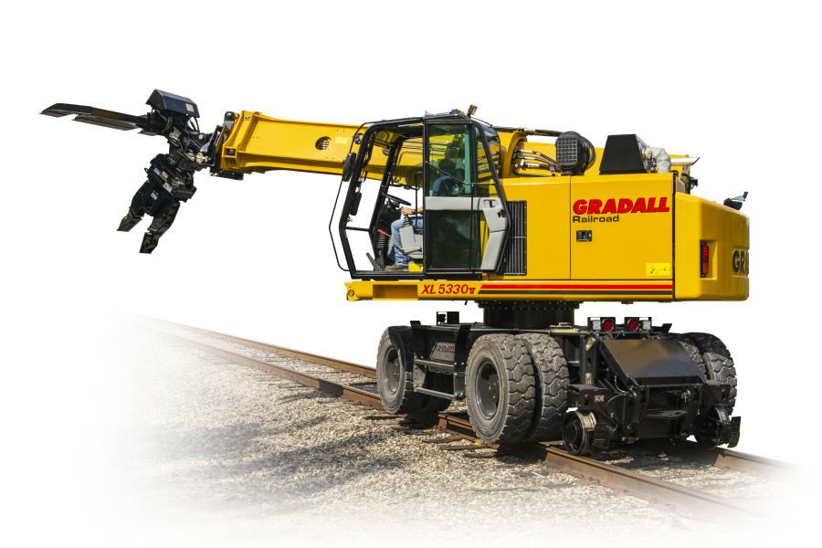Designed for railroads, municipal railways, city transit systems and others involved in rail construction, repair and right-of-way work, the XL 5330 V is the largest model in the Gradall TrackStar collection.