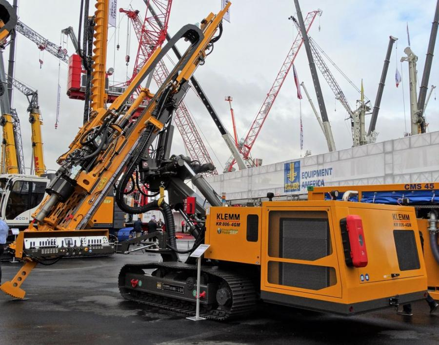 ECA has begun distribution of KLEMM's newly introduced KR 806-4GM and KR 801-3GS anchor and micropile drilling rigs.