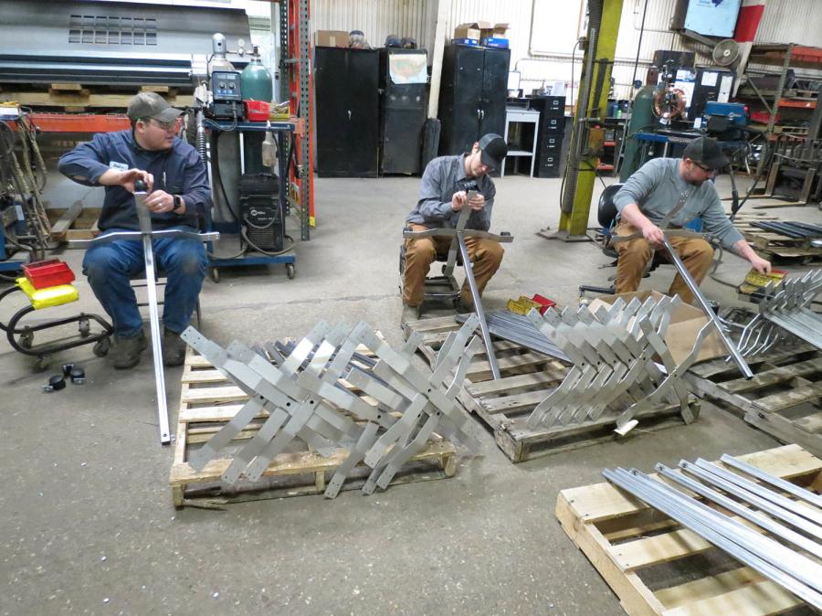 Each IV stand was carefully handcrafted, taking into consideration how these stands are used in the emergency room.