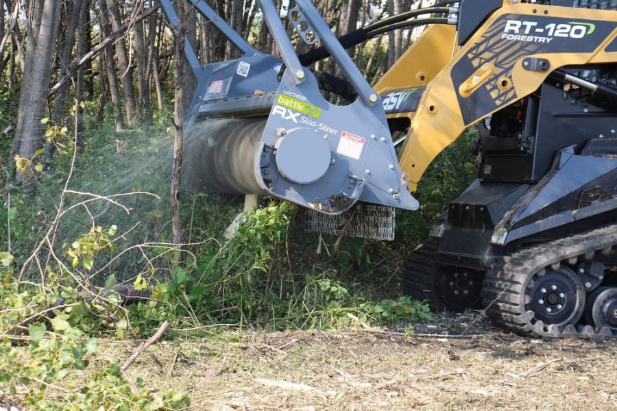 ASV Holdings Inc. partnered with Loftness Specialized Equipment to design a specialized Loftness S-Series Battle Ax mulching head for optimized performance with ASV machines.