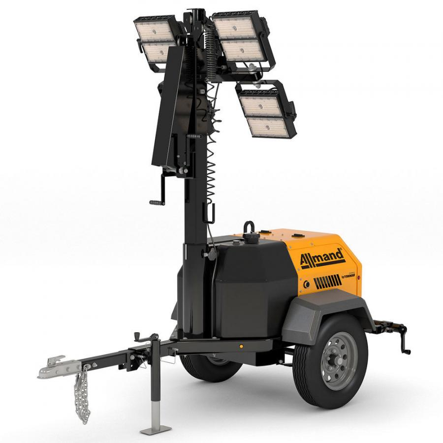 The new, compact GR-Series light towers offer customers the flexibility of several powertrain options, including air-cooled diesel, gasoline or a towable chain unit.