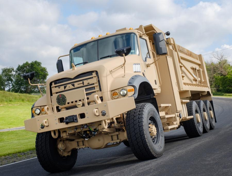 To meet the demanding needs of the U.S. Army, Mack Defense added heavier-duty rear axles, all-wheel drive, increased suspension ride height and other features.