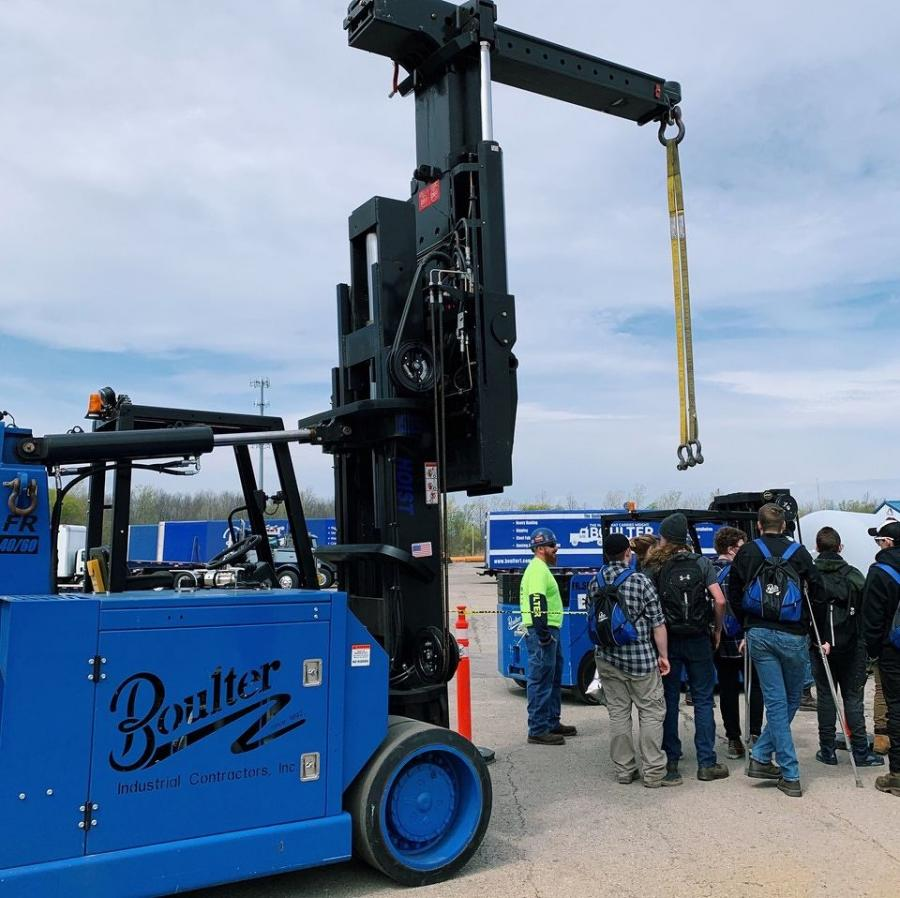 Boulter Industrial Contractors Inc., Webster, N.Y., hosted a Lift & Move USA event in 2019 and became a Friend of Lift & Move sponsor in 2020.