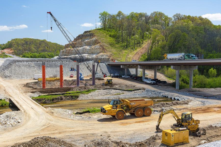 Construction on the I-49 interchange resumed after the Memorial Day weekend, according to Robert Gillis of Sapp & Sons. (ARDOT photo)