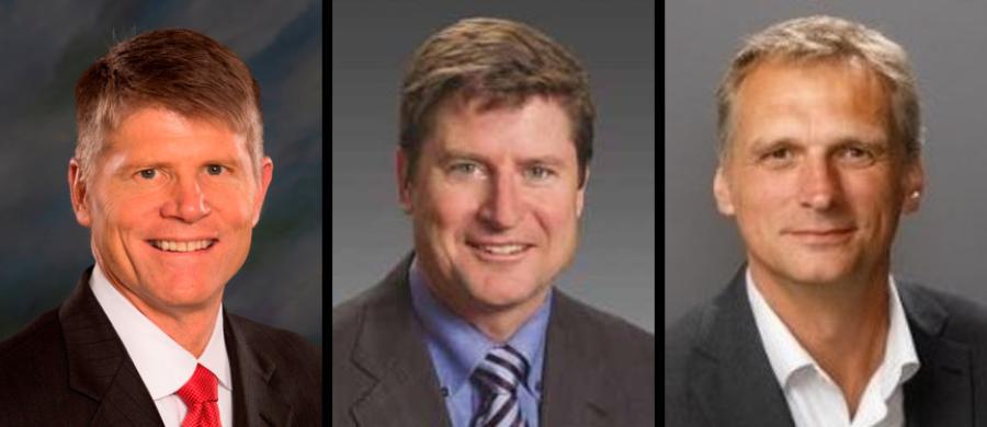 (L-R) are John Garrison Jr., Matt Fearon and Simon A. Meester.