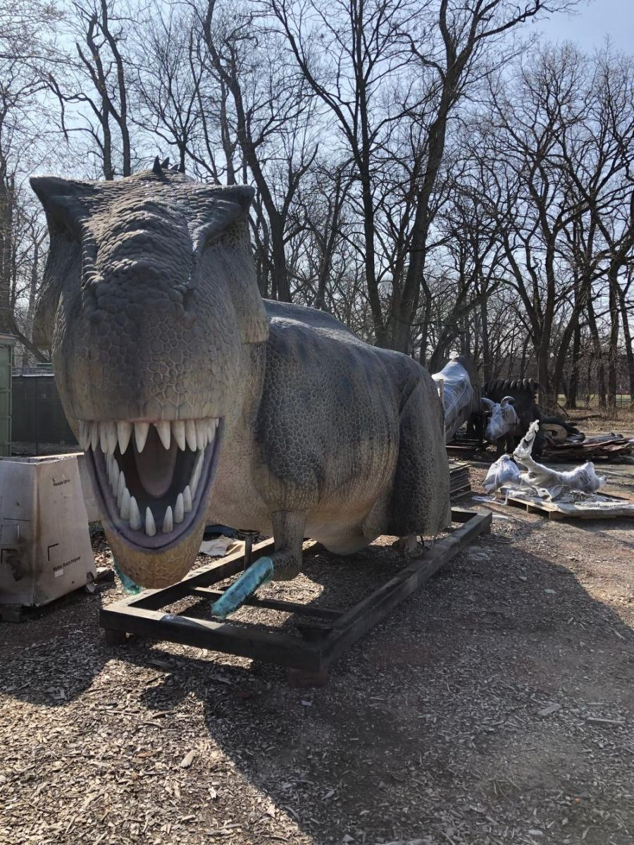 A monstrous exhibit of realistic and life-size dinosaurs will go on as planned at Brookfield Zoo due to the heavy-duty equipment and one-stop consulting and project management provided by Contractors Equipment Rentals.