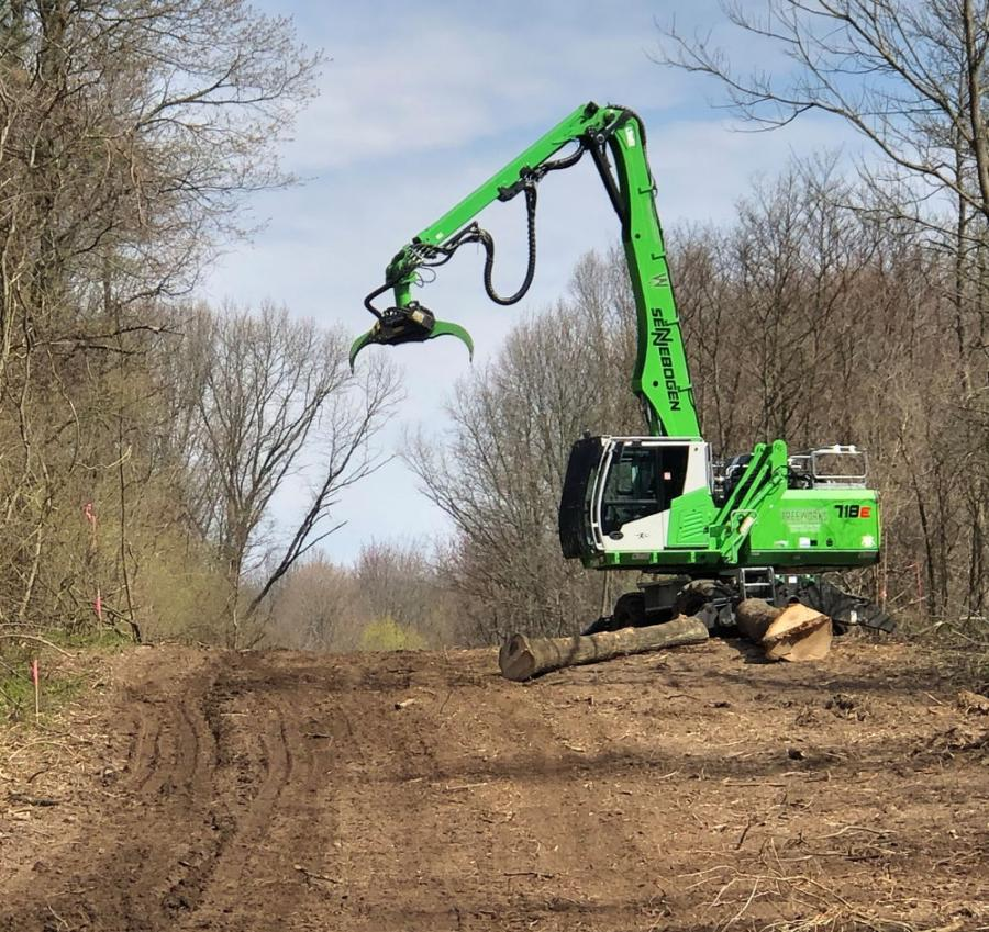 The Sennebogen 718 continues to crush the workload at Treeworks in Michigan.