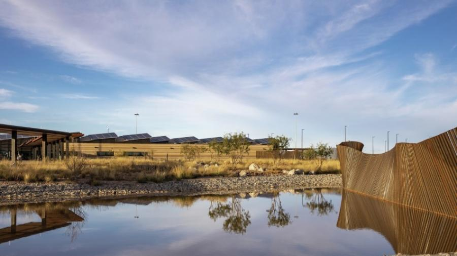 The Columbus port of entry, designed by Corpus Christi-based Richter Architects, has earned recognition from the American Institute of Architects and Texas Society of Architects.
