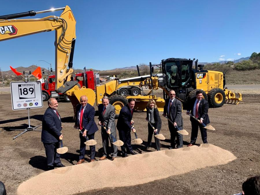 Arizona officials participate in a groundbreaking ceremony for the SR 189 improvements.
