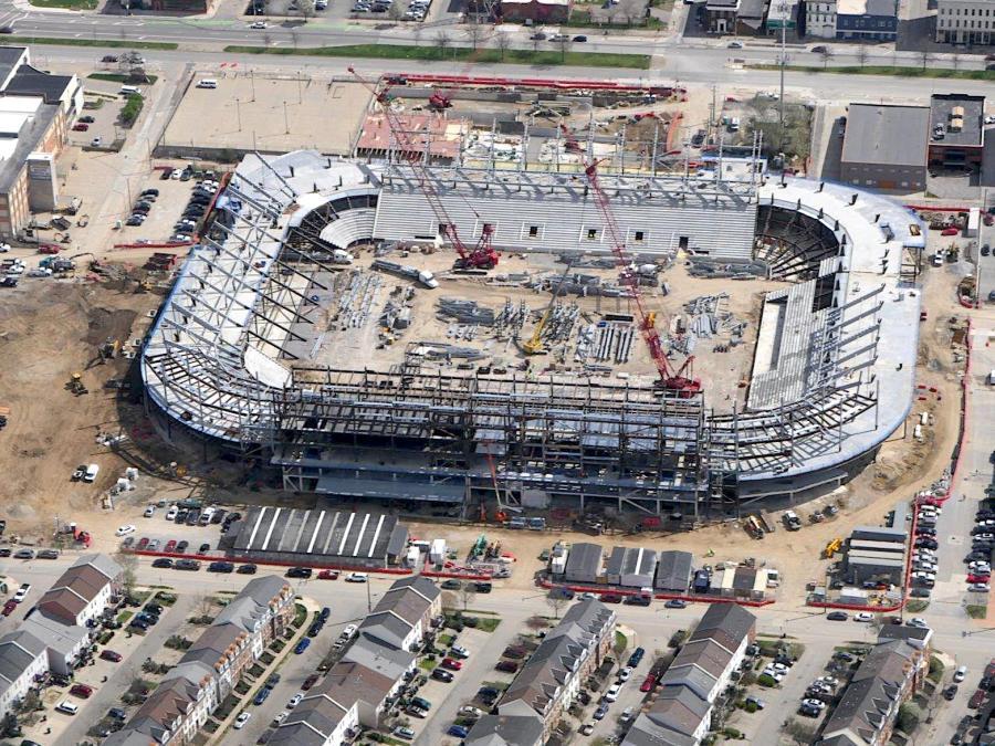 Construction crews in Ohio are working to complete a $250 million MLS stadium in Cincinnati.