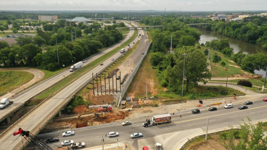 C.W. Matthews is the general contractor for the I-16/I-75 interchange improvements, which has had to overcome a few challenges to complete construction.