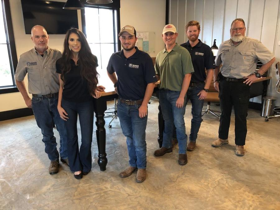 (L-R): The Roper Brothers construction family is John, Elise, Jacob, Brandon, Bobby and David.