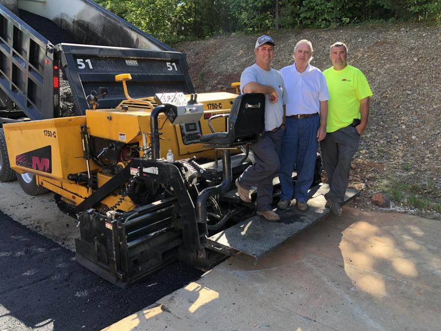 Both of Scott's sons, Jason (L) and Kevin (R), are working in the family business now and have taken over managing the crews on site, with the elder John Scott works as the estimator for Asphalt Paving & Maintenance.