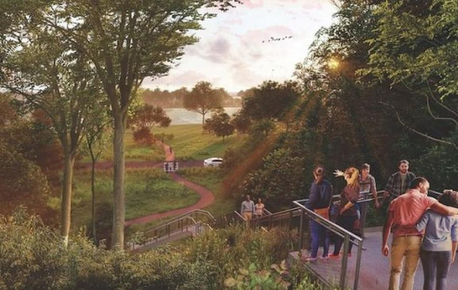 The connector will allow easier access for residents, business and visitors from the Buffalo Avenue Heritage District to the Niagara River and the American Rapids. (Empire State Development photo)