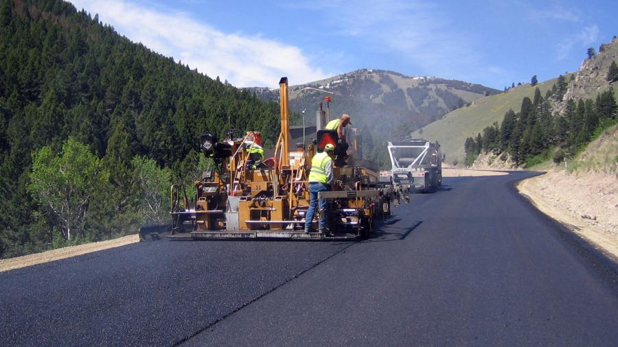 Riverside Contracting Inc., of Montana, won the Smoothest Pavement without Wearing Course award for a project on U.S. 14 near Dayton.