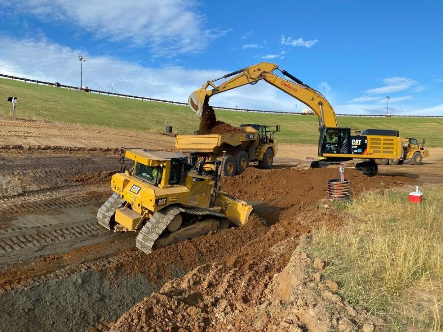Excavation proceeds at the Dike.