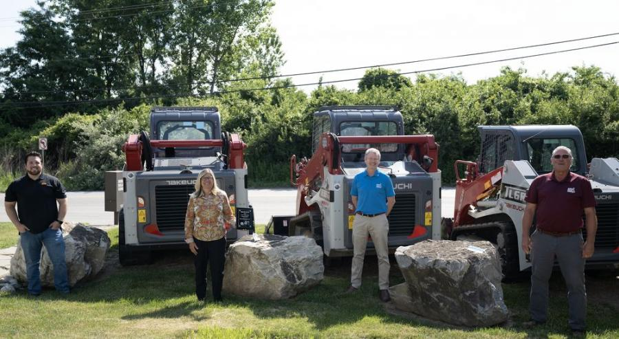 (L-R): Kenny Cobb Jr., inventory and fleet manager; Karen Zajick, president and principal; Bill Cummings, sales manager; and Mark Dombrowski, sales specialist, all of Norris Sales Company.