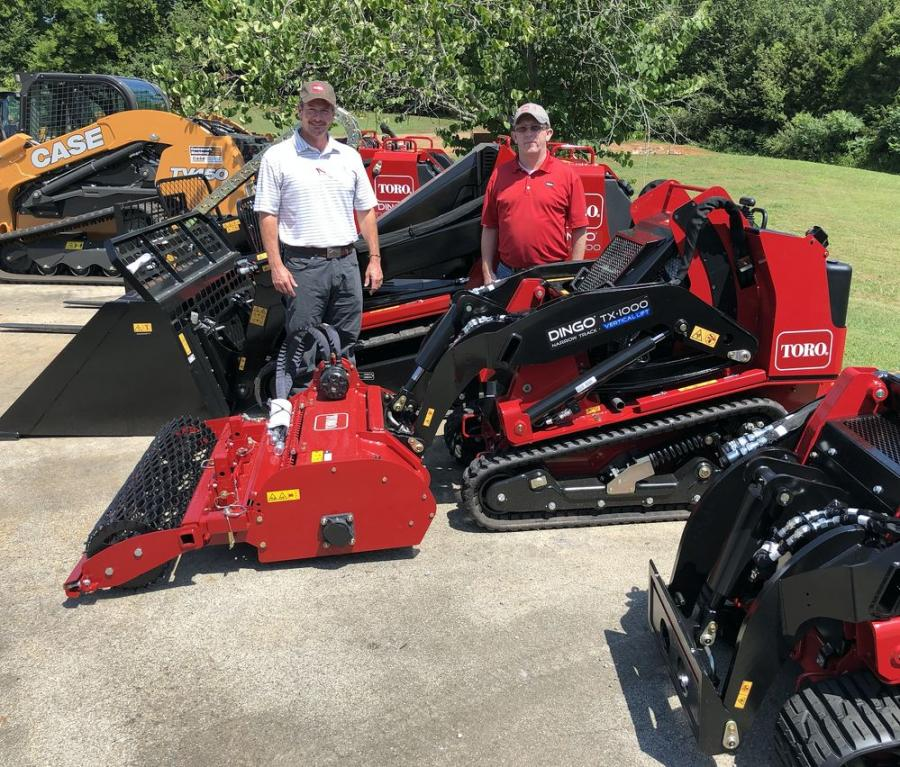 Blake Wilson (L), CMI general manager, and Gaylord Richey of Toro.