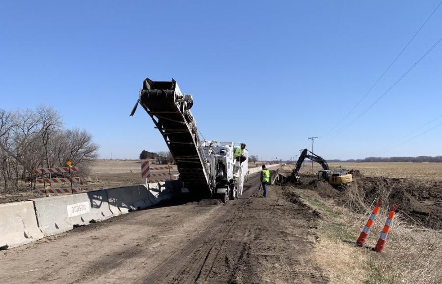The scope of the project includes milling and resurfacing the existing roadway with asphalt.