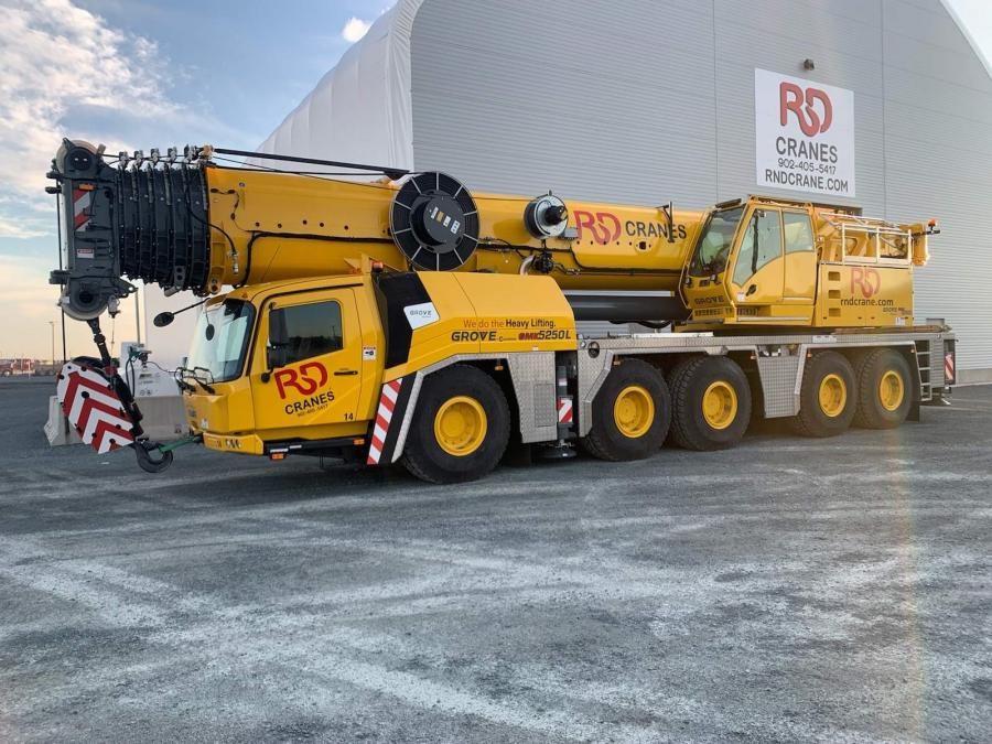 The new GMK5250L brings Grove's latest technologies to R&D Crane's fleet. The crane was designed to increase job site versatility and lower operating costs.