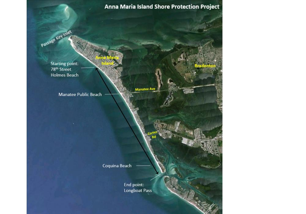 A contractor for the U.S. Army Corps of Engineers (USACE), Marinex Construction of Charleston, S.C., is restocking a 5.5-mi. stretch of beach in northern Holmes Beach to the southern end of Coquina Beach at Longboat Pass.
