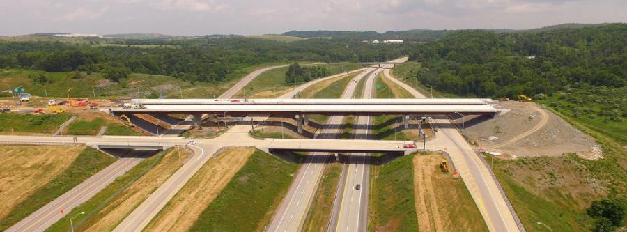 Completion of the Mon/Fayette Expressway and Southern Beltway projects will create about 98 miles of new limited-access highways south and west of Pittsburgh in Allegheny, Washington and Fayette counties. (Pennsylvania Turnpike photo)