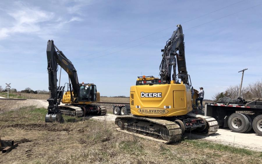 RCE Equipment Solutions, a railroad maintenance equipment manufacturer, has a new series of Railavators available: John Deere models 210G, 245G and 250G high-rail excavators.
