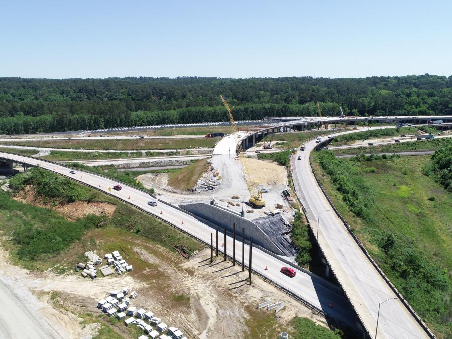A view of the I-16/I-75 interchange facing south. (GDOT photo)
