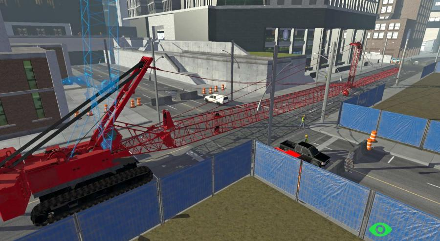 Strict detail was used to identify and simulate the steps of what happens when everything goes well, along with the consequences when things don't — and ensure that the simulator's reaction would mirror that of the crane.