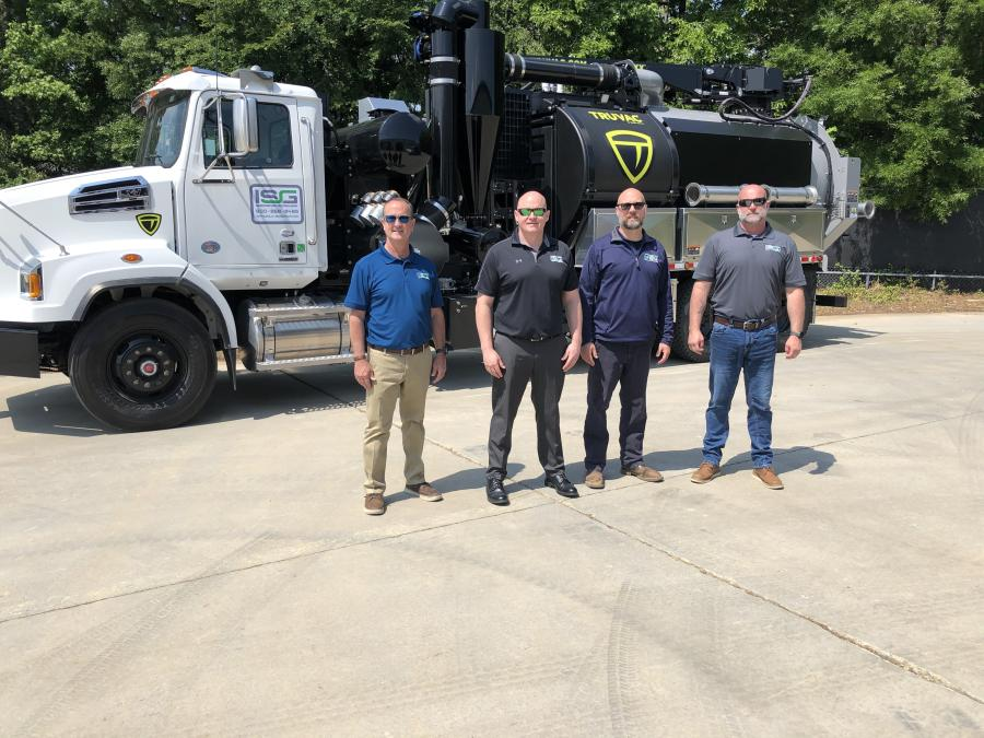 (L-R): Eric Rocchiccioli, president; Sean Lemcke, sales manager, North Carolina and South Carolina; Bob Renwick, product support specialist; and Justin Zeigler, territory manager, all of Infrastructure Solutions Group.