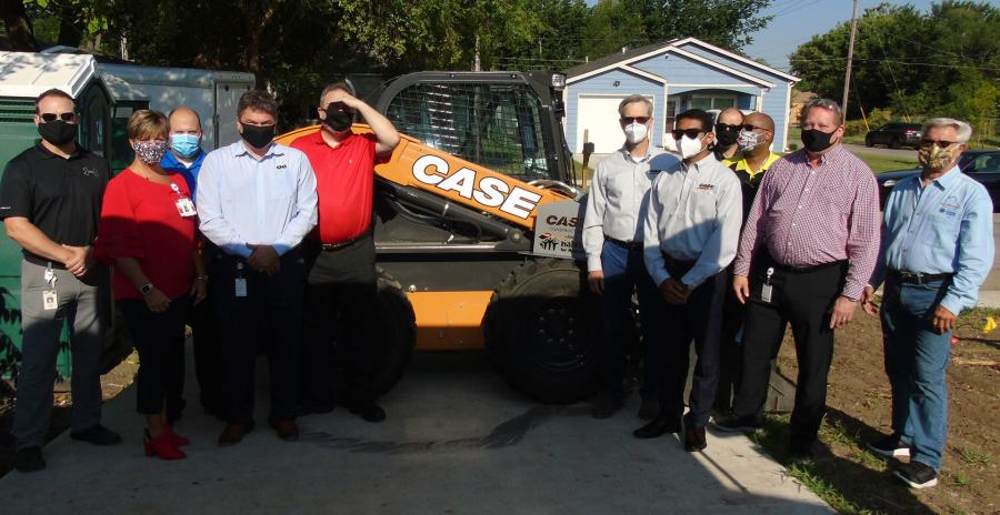 Case employees frequently volunteer with Habitat organizations across the U.S. through the company's Impact Day program.