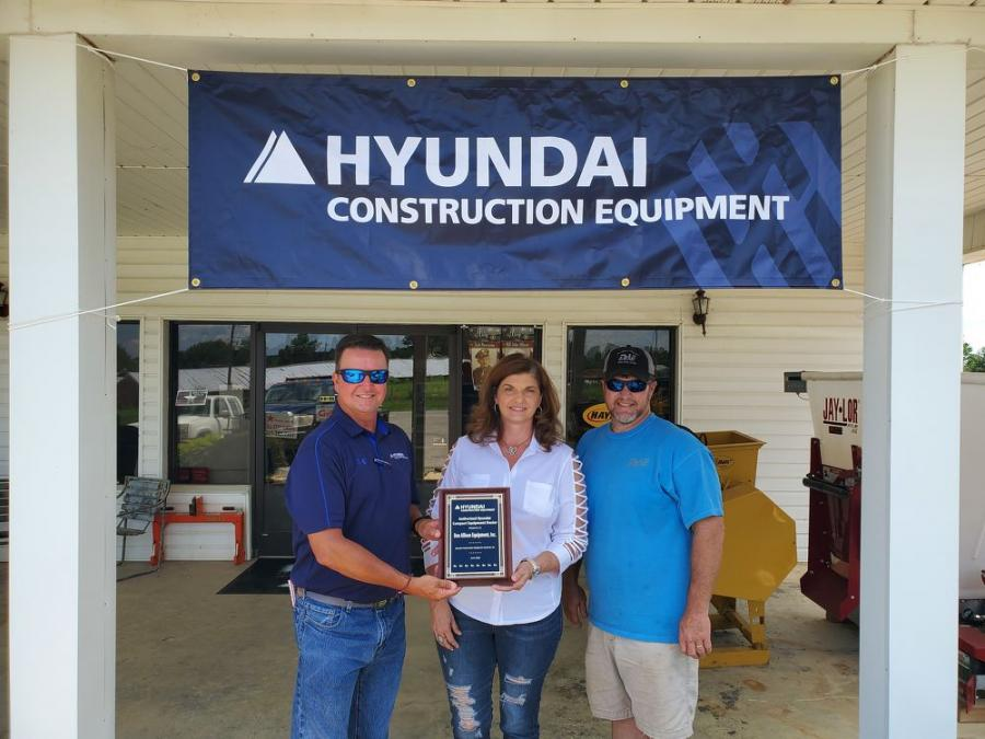 (L-R) are Shaun Galligan, HCEA district manager, Southeast; Angie Abercrombie, Don Allison Equipment CFO; and Chris Ergle, Don Allison Equipment vice president of sales.