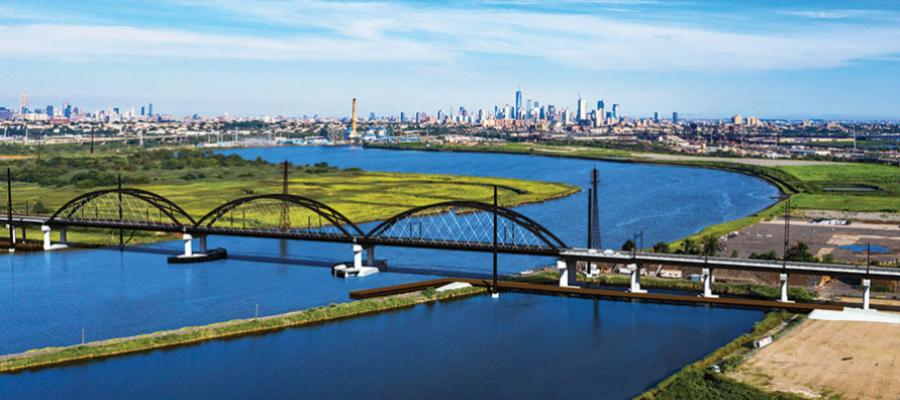 Major projects such as the proposed new Portal Bridge are highlights of New Jersey Transit's five-year capital plan and first-ever 10-year strategic plan. (NJ Transit rendering)